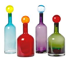 Carafe Bubbles & Bottles / Verre - Set de 4 Multicolore - Pols Potten - 250€