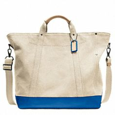WASHED CANVAS BEACH TOTE