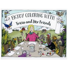 Fun coloring book for the whole family. Have fun coloring and also get some timely gardening tips.
