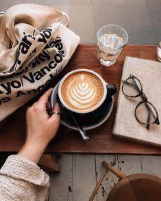 coffee flatlay Photography Coffee With Joy Coffee Shot, Coffee Cafe, Coffee Drinks, Drinking Coffee, Coffee And Books, I Love Coffee, Coffee Break, Coffee Girl, My Coffee