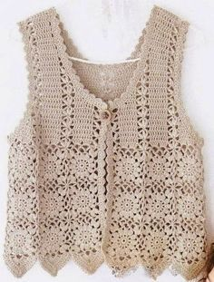 see how beautiful this vest in very elegant crochet see step by step