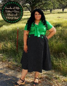 Decades Everyday Buttons and Bows Blouse in silk cotton and Decades of Style 1950's PB&J Skirt in linen mochi dot