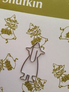 NEW Paper Clips Moomin Snufkin 13 paper clips by geluk on Etsy