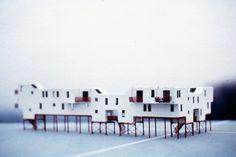 """Bekroond ontwerp """"Dubbel Duck"""" in het kader van de 1e prijsvraag """"De Fantasie"""" voor 5 experimentele woningen te Almere"""