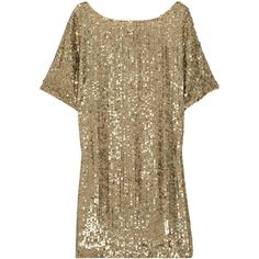 Vince Sequined crepe dress ($275) ❤ liked on Polyvore featuring dresses, tops, sequin, vince, gold, sequin cocktail dresses, sequined dresses, crepe dress, beaded dress and short beaded cocktail dresses