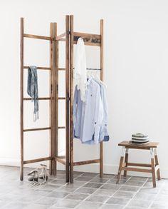 ACCESSOIRES |  Kledingrek Graham Avenue. Een unieke manier voor het ophangen van kleding en eventueel het scheiden van een ruimte.