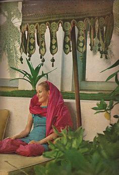 """Doris Duke at her home """"Shangri La"""""""