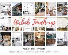 Airbnb Touch-up - Pack of 3 Presets - for Snapseed, Modern Minimal/Cabin in the woods/Warm welcome - !EASY TO USE! Edit Your Photos, Fall Photos, Photo Scan, Minimal Decor, Snapseed, Cabins In The Woods, Warm Colors, Minimalism, Photo Editing