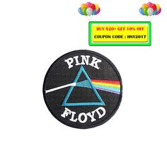 Pink Floyd Embroidered Iron On Patch Heat Seal Applique Sew On Patches