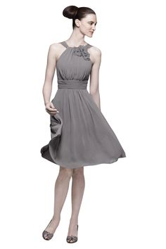 Watters 7541 Bridesmaid Dress |   Crinkle Chiffon in Falcon  Weddington Way