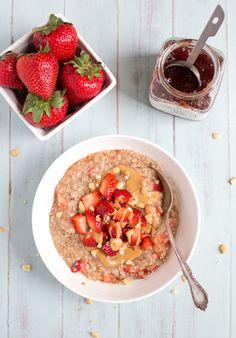 Peanut Butter & Strawberry Oatmeal