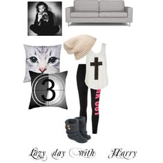 Lazy day with Harry by kaylee-schroeder on Polyvore featuring polyvore, fashion, style, Forever 21, Dot & Bo and M&Co