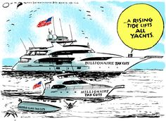 Editorial cartoon on tax cuts