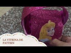 como hacer un dulcero facil de Aurora, en forma de cartera - YouTube