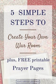 Have you considered a DIY War Room after watching the movie? I'm sharing a simple way to create your own War Room, plus free Prayer Pages to print and hang on your War Room wall. Click to get yours now!