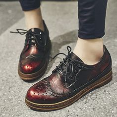 54.12$  Buy now - http://alictv.worldwells.pw/go.php?t=32757971132 - Women's Genuine Leather British Style Flats Oxfords Brand Designer Carving Leisure Esparilles Lace-up Shoes for Women Footwear 54.12$