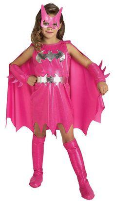 PINK BATGIRL CHILD COSTUME