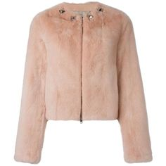 Givenchy cropped jacket (7.894.120 CLP) via Polyvore featuring outerwear, jackets, pink, pink jacket, long sleeve jacket, collarless jacket, givenchy jacket y pastel jacket