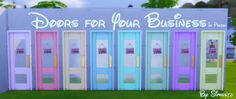 simsstd: Doors for Your Business In PastelStandalone8 ColorsMesh by Expansion PackDownload [ X ]