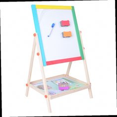 46.14$  Buy here - http://ali496.worldwells.pw/go.php?t=32706185898 - Wooden Double-sided Magnetic Drawing Board Writing Board Sketchpad Easel Fantastic  Blackborad Educational Kid Toys