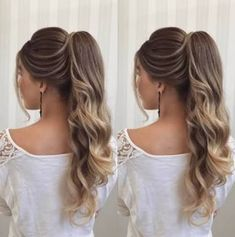 Pin on pageant hair Formal Hairstyles, Bride Hairstyles, Ponytail Hairstyles, Bridesmaids Hairstyles, Hairstyle Wedding, Pageant Hairstyles, Hair Ponytail, Bridesmaid Hair, Prom Hair