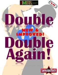 Double & Double Again Game: THE BEST VERSION EVER! Practice learning doubles with this easy and fun game - in color and b&w. Easy to print & play!