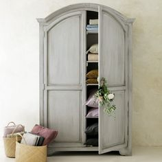 Mango wood wardrobe in pearl grey W Decor, Affordable Furniture, Wooden Wardrobe, Grey Furniture, Furniture, Home Furniture, Home Decor, House Interior, Home Deco