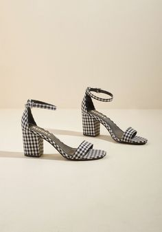 You'll re-envision your idea of the perfect sandal upon spying these gingham heels by Report Footwear. From their delicate ankle straps to their minimalist...