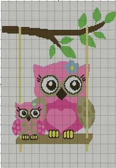 Cross Stitch Owl, Cross Stitch Animals, Cross Stitching, Cross Stitch Embroidery, Embroidery Patterns, Modern Cross Stitch Patterns, Cross Stitch Designs, Owl Patterns, Tapestry Crochet