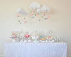 Rainbow, Clouds & craft Birthday Party Ideas | Photo 1 of 19 | Catch My Party