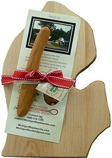 Amazon.com: Totally Bamboo Cutting and Serving Board, Michigan ...