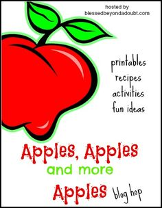 FREE Preschool Apple Theme and Apples, Apples, and more Apples! - Blessed Beyond A DoubtFREE Preschool Apple Theme and Apples, Apples, and more Apples! - Blessed Beyond A Doubt Preschool Apple Theme, Apple Activities, Fall Preschool, Craft Activities For Kids, Preschool Apples, Preschool Education, Kindergarten Activities, Craft Ideas, Apple Bulletin Boards