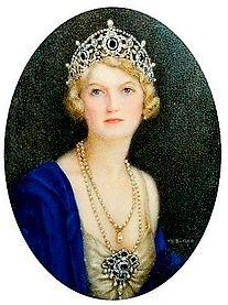Miniature of Ivy Cavendish-Bentinck, wife of the 7th Duke of Portland.
