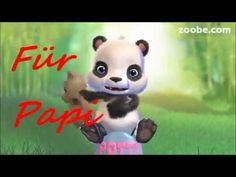 Papi - Ich hab dich lieb ! Papa, Vati, Vater, Herrentag, Zoobe, Animation