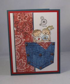 AUG11VSNI Denim Friends_lb by Clownmom - Cards and Paper Crafts at Splitcoaststampers