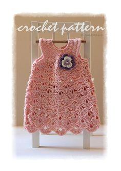Baby CROCHET PATTERN Baptism baby girl dress pattern