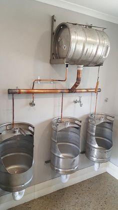 outdoor keg urinal would work fine until someone dueced. Black Bedroom Furniture Sets. Home Design Ideas
