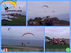 Paragliding Ecuador Come and enjoy paragliding with certified instructors and experiences. Enjoying the beautiful scenery and adventure sports in the company of your family and friends . Spend a different week and get out of the routine. We offer fly in Guayaquil - Montañita - Puerto Lopez - Canoa - Crucita - Cuenca - Ibarra -Baños -Quito .