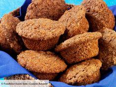 Recette Muffin au son de blé. Ingrédients (12 personnes) : 250 g de farine semi-complète, 250 ml de lait, 100 g de cassonade... - Découvrez toutes nos idées de repas et recettes sur Cuisine Actuelle Cookies Et Biscuits, Krispie Treats, Cornbread, Muffins, Breakfast, Ethnic Recipes, Food, Cupcakes, Flourless Cake