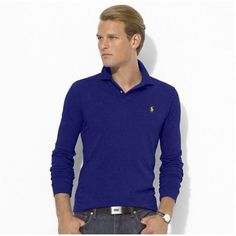 Ralph Lauren Darkblue Mesh Yellow Men Polo [rl 437] - �29.62 : Ralph