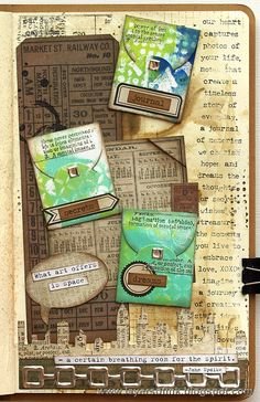 Layers of ink - Mini Envelope Art Journal Page