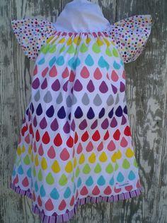 DRESS-RAINBOW RAINDROP SIZE 5 - by ilovegreen on madeit