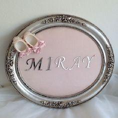 Gümüş Varaklı Pembe Süslü Patikli Kız Bebek Kapı Süsü (1)