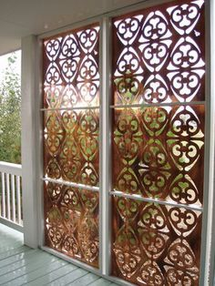 all-weather privacy screen for porch, deck, & patio made with parasoleil patterns