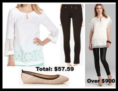 Fashionably Frugal: Look For Less - Eyelit Outfit - http://www.livingrichwithcoupons.com/2013/08/fashionably-frugal-look-for-less-90-off-high-end-outfit-2.html