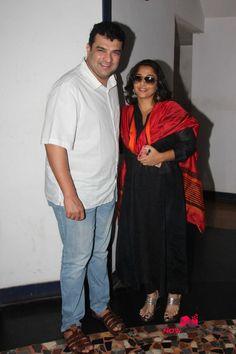 Vidya and Sidharth Roy Kapoor snapped at Kabali screening