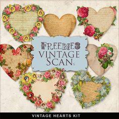 Freebies Vintage Hearts Kit