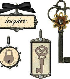 Tiny Treasures Precious Metals Charms-Lock Key