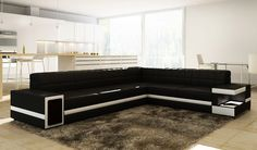 VIG Furniture - Divani Casa 6106 Modern Bonded Leather Sectional Sofa
