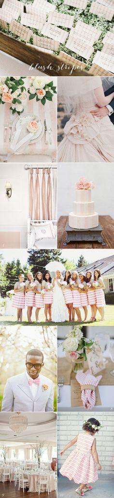 Blush Stripes - wedding ideas via Lockhart Lockhart Anne Designs Wedding Themes, Wedding Designs, Wedding Blog, Wedding Colors, Wedding Events, Wedding Styles, Dream Wedding, Wedding Decorations, Wedding Ideas